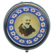 Padre Pio Silver Plated Metal Pyx mm.50 - 2""