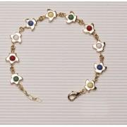 Rosary Bracelet Gold Plated Dove
