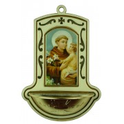 "St.Anthony White Water Font cm.9x13 - 3 1/2""x5"""