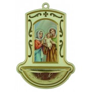 "Holy Family White Water Font cm.9x13 - 3 1/2""x5"""