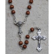 Communion Rosary Wood Chalice 3mm Simple Link Natural