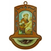 "St.Anthony Brown Water Font cm.9x13 - 3 1/2""x5"""