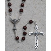 Rosary Wood Chalice 3mm Simple Link Brown
