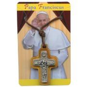 "Good Shepherd/ Pope Francis Crucifix with Cord cm.3x2 - 1 1/4""x 3/4"""