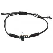 925 Metal Cross Pull Cord Bracelet