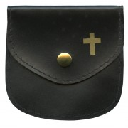 "Rosary Pouch Black cm.8x8- 3 1/4""x 3 1/4"""