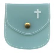 "Rosary Pouch Aqua cm.8x8 - 3 1/4"" x 3 1/4"""