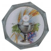 Chalice Clear Octagon Rosary Box cm.5.4x 2 1/8""