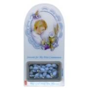 "English Boy Communion Set cm.12x6 - 4 3/4""x2 1/4""with Rosary 5mm"