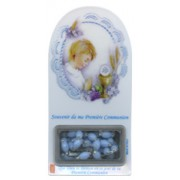 "French Boy Communion Set cm.12x6 - 4 3/4""x2 1/4""with Rosary 5mm"