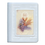 "Communion Rosary Box White cm.6x5 - 2 3/8""x 2"""