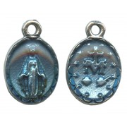 """Miraculous Medal Silver Plated mm.10 - 7/16"""""""