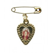 "Sacred Heart of Jesus Lapel Pin mm.19 - 3/4"""