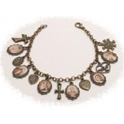 Multi-Saints Bronzed Metal Bracelet Sepia Pictures