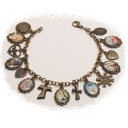 Multi-Saints Bronzed Metal Bracelet Colour Pictures