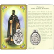 "Prayer to/ St.Martin Prayer Card with Medal cm.8.5 x 5 - 3 1/4"" x 2"""