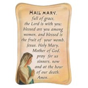 "Hail Mary Mini Standing Plaque English cm.7x10 - 3""x4"""