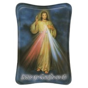 "Divine Mercy Mini Standing Plaque Spanish cm.7x10 - 3""x4"""