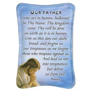 "Our Father Mini Standing Plaque English cm.7x10 - 3""x4"""