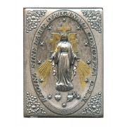 """Miraculous Pewter Picture cm. 5.5x4.2- 2 1/8""""x 1 1/2"""""""