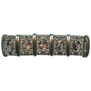 Mother and Child Silver Plated Metal Elastic Bracelet Colour Pictures