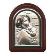 "Ferruzzi Plaque with Stand Brown Frame cm. 6x7- 2 1/4""x2 3/4"""