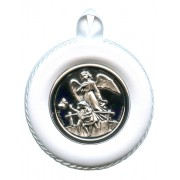 "Crib Medal Guardian Angel Bridge White cm.8.5- 3 1/4"""