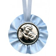 Crib Medal Guardian Angel Blue cm.9.5- 3 3/4""