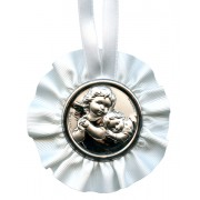 Crib Medal Guardian Angel White cm.9.5- 3 3/4""