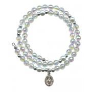 Wraparound Rosary Bracelet mm.6 Crystal