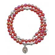 Wraparound Rosary Bracelet mm.6 Red