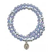 Wraparound Rosary Bracelet mm.6 Blue