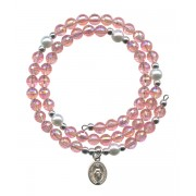 Wraparound Rosary Bracelet mm.6 Pink