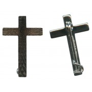 Silver Cross with Pin mm.23- 1""