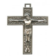 Latin Crucifix Oxidized Metal mm.40- 1 1/2""