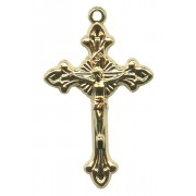 Gold Plated Metal Crucifix mm.33- 1 3/8""