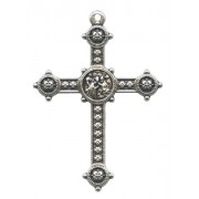 """Silver Plated Metal Cross mm.40- 1 1/2"""""""