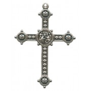 """Silver Plated Metal Cross mm.50- 2"""""""