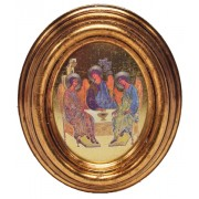 """Icon Trinity Gold Leaf Oval Picture cm.12.5x10.5- 5""""x4 1/4"""""""