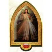"English Divine Mercy Gold Leaf Picture Frame Vault cm.22x33.5- 8 1/2""x 13 1/4"""