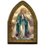 "Miraculous Gold Leaf Picture Frame Mini Vault cm.18.5x13.5 - 7 1/4""x5 1/4"""