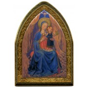 """Mother and Child Gold Leaf Picture Frame Mini Vault cm.18.5x13.5 - 7 1/4""""x5 1/4"""""""