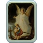 """Blue Frame Guardian Angel Plaque cm. 21x29- 8 1/2""""x 11 1/2"""""""