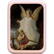 "Pink Frame Guardian Angel Plaque cm. 21x29- 8 1/2""x 11 1/2"""