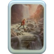 "Blue Frame Guardian Angel Prayer Plaque cm. 21x29- 8 1/2""x 11 1/2"""