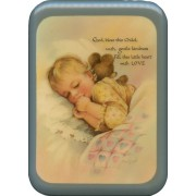 "Blue Frame God Bless this Child Plaque cm. 21x29- 8 1/2""x 11 1/2"""