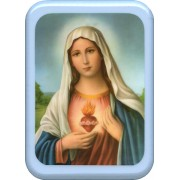 """Immaculate Heart of Mary Plaque cm. 21x29- 8 1/2""""x 11 1/2"""""""