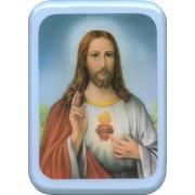 "Sacred Heart of Jesus Plaque cm. 21x29- 8 1/2""x 11 1/2"""