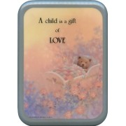 """Blue Frame A Child is a Gift of Love Plaque cm. 21x29- 8 1/2""""x 11 1/2"""""""