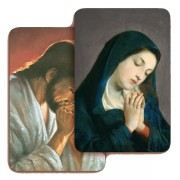 """Jesus and Our Lady Praying 3D Bi-Dimensional Cards cm.5.5x8.2- 2 1/8""""x 3 1/4"""""""